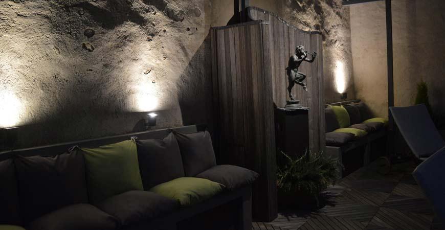 Terrazza relax dell'Hotel Palazzo Bontadosi