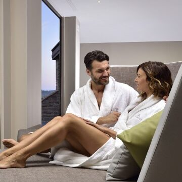 Coppa rilassata a Borgobrufa SPA Resort - pacchetto benessere e & lavoro 3 notti